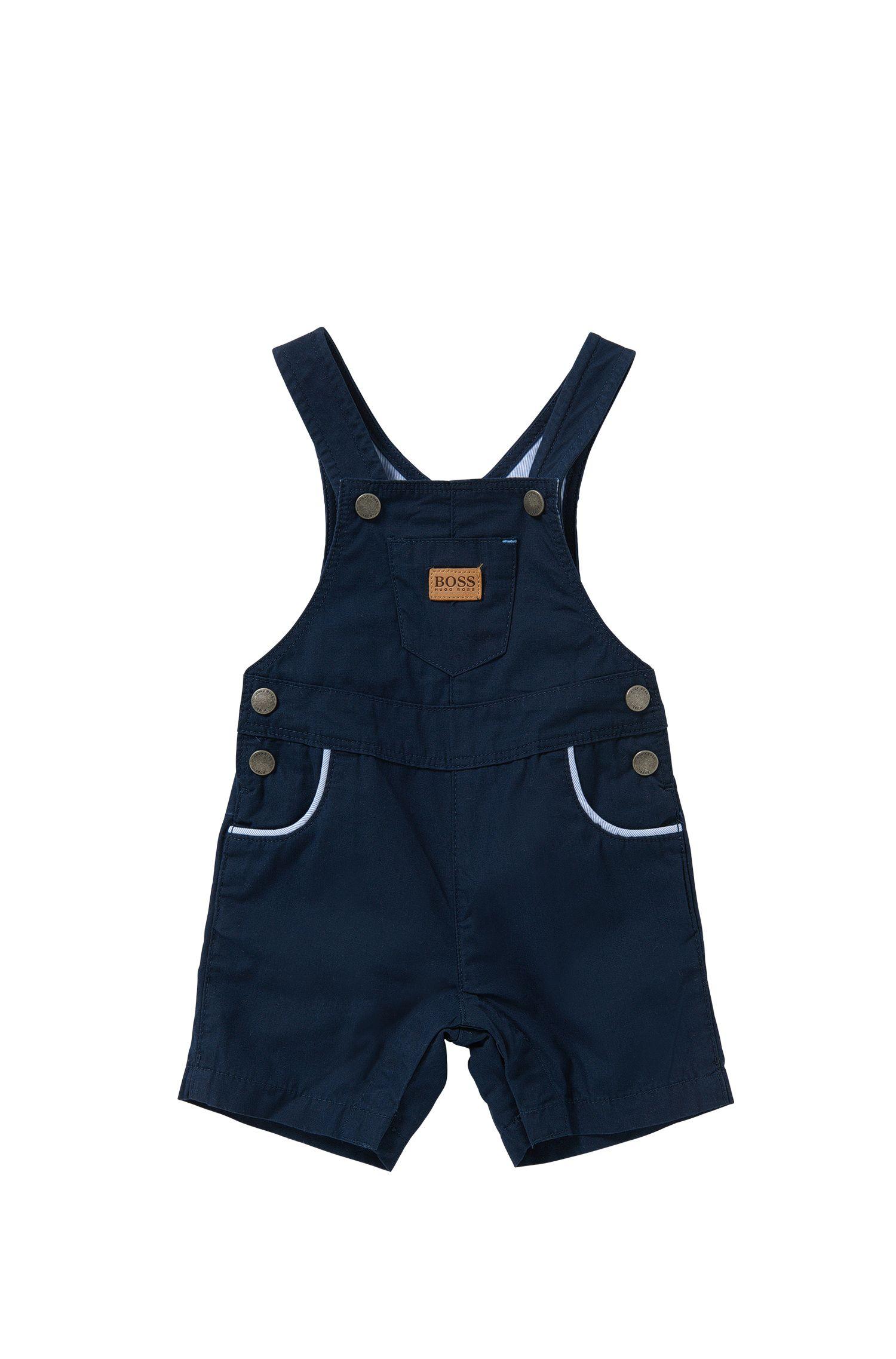 Salopette courte pour bébé en coton, fermée par des boutons-pression: «J94156»