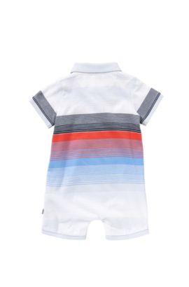 Body multicolor a rayas para bebé en algodón: 'J94159', Celeste