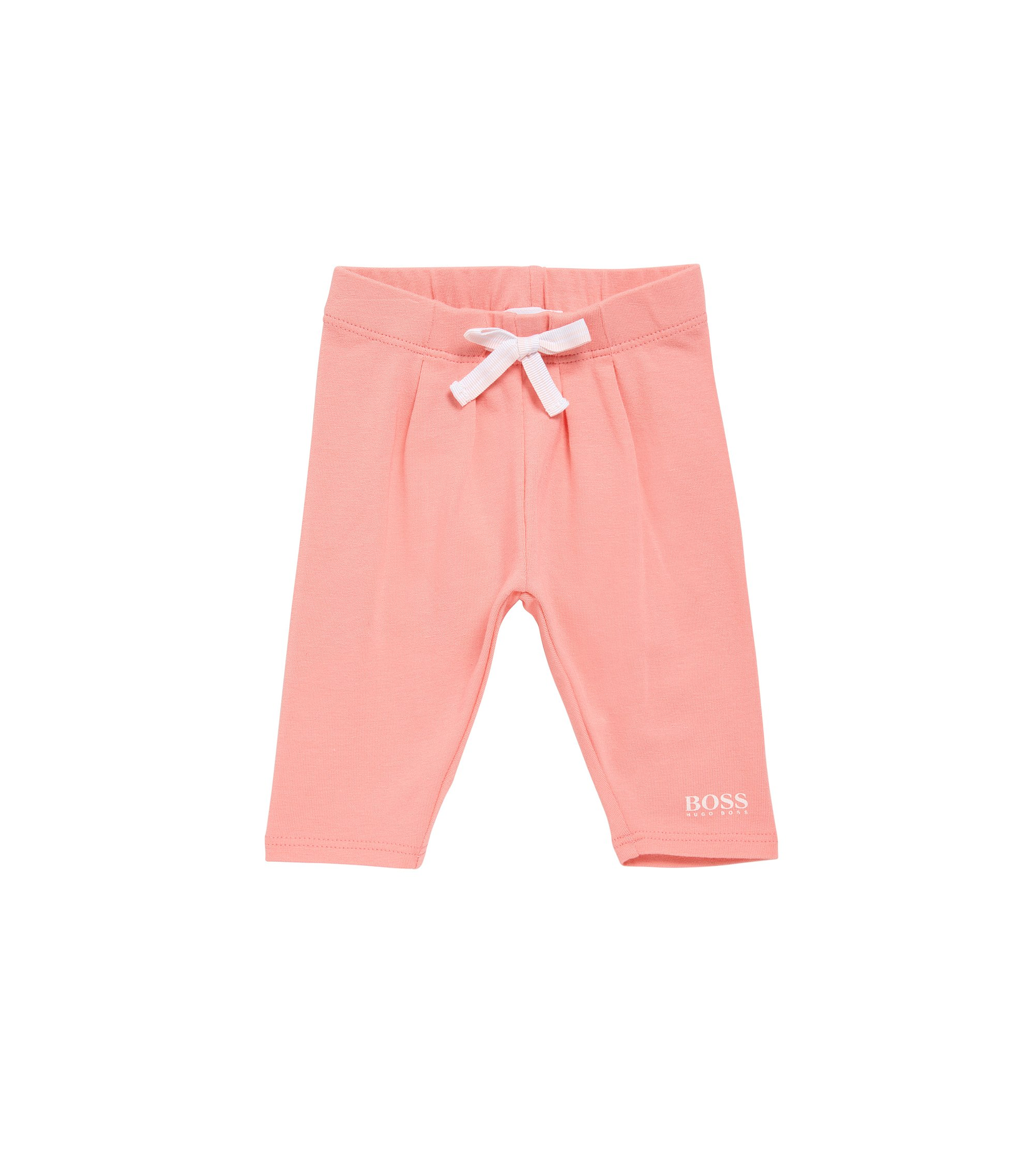 Newborn trousers in stretch cotton with bow detail: 'J94165', light pink