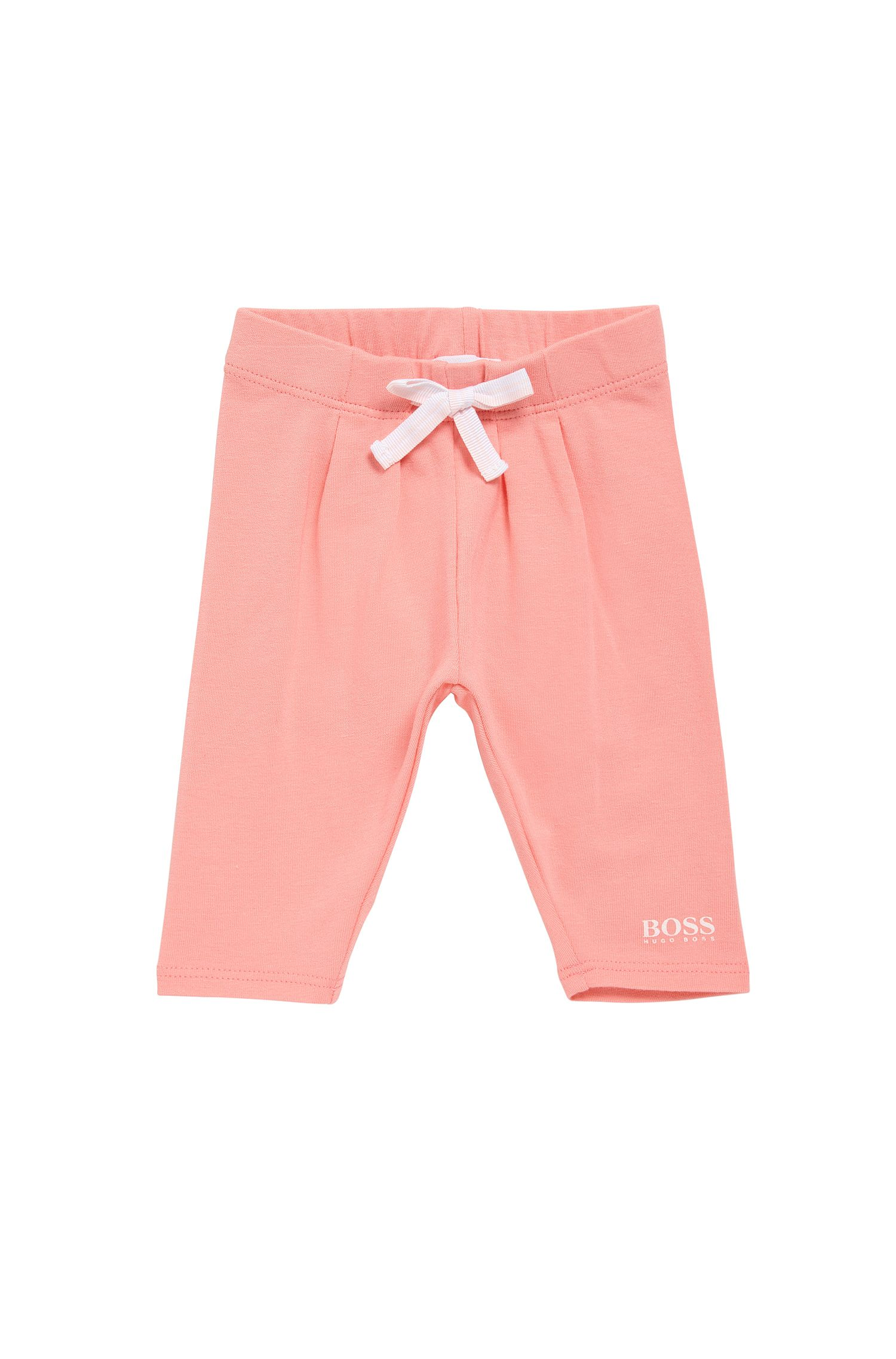 Pantalon pour bébé en coton élastique orné d'un nœud: «J94165»