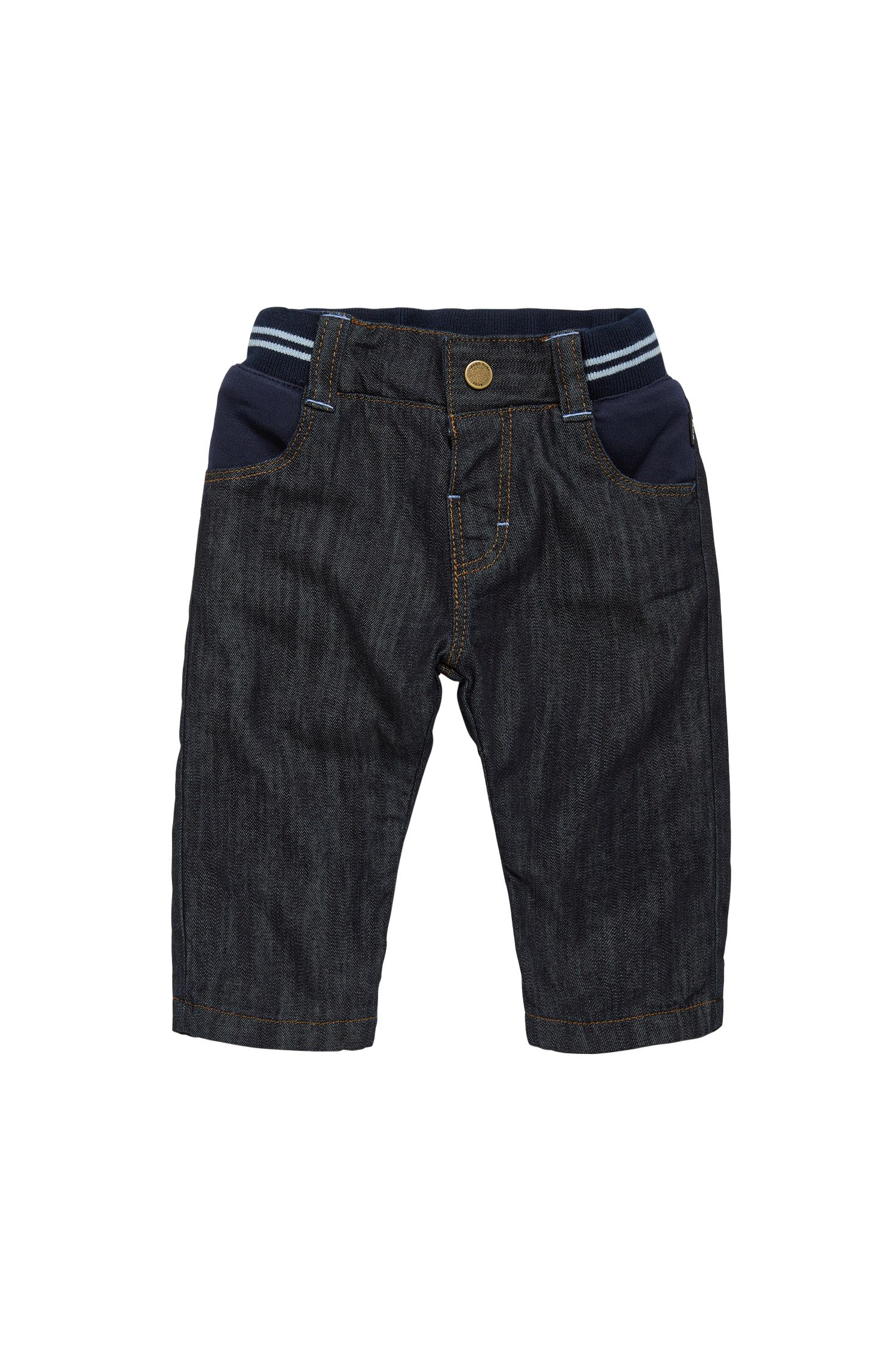 Regular-fit newborn jeans in stretch cotton: 'J94166'
