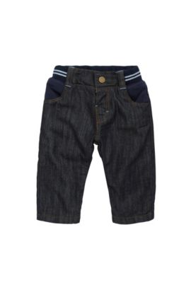 Regular-fit newborn jeans in stretch cotton: 'J94166', Patterned