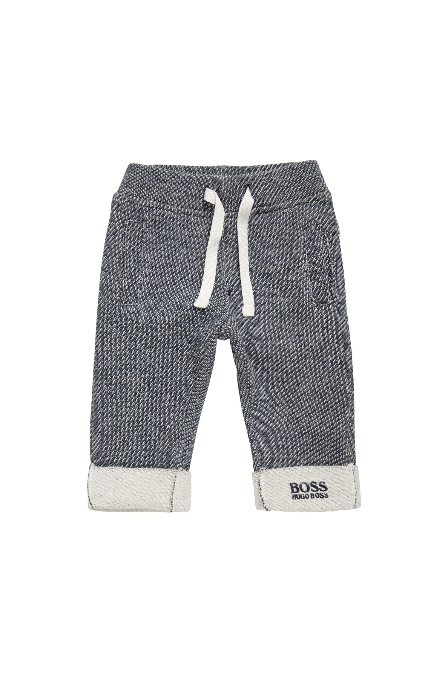 Patterned newborn tracksuit bottoms in cotton: 'J94167'