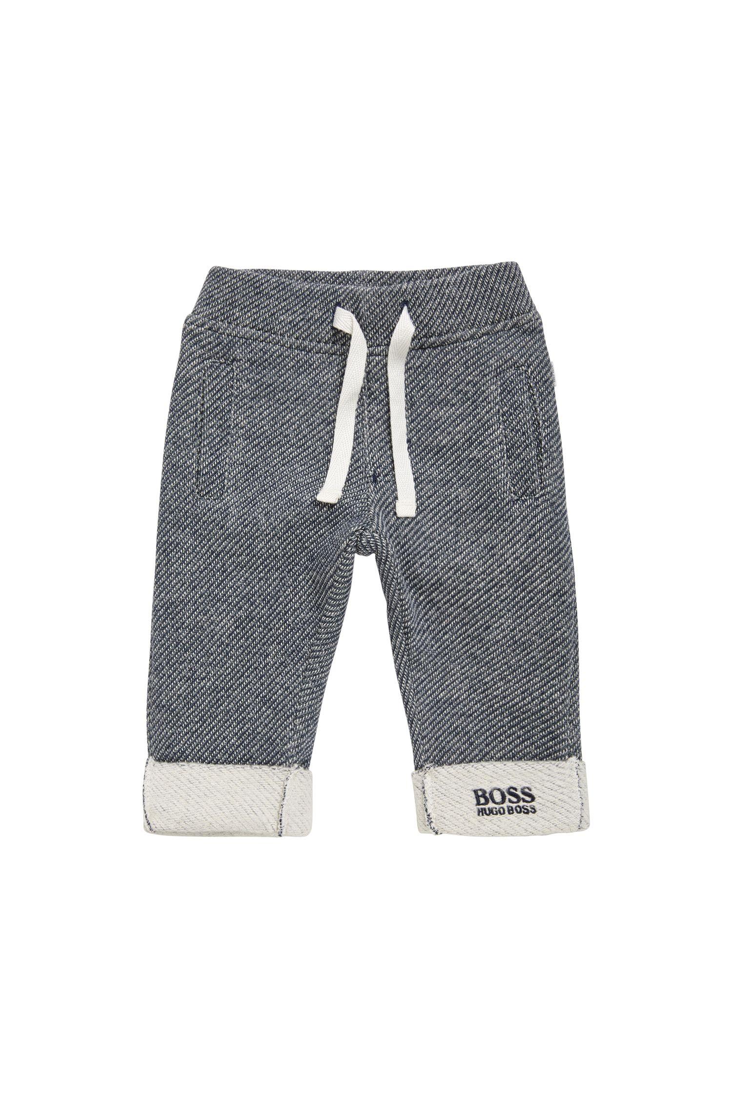 Pantalon molletonné pour bébé en coton, à motif: «J94167»