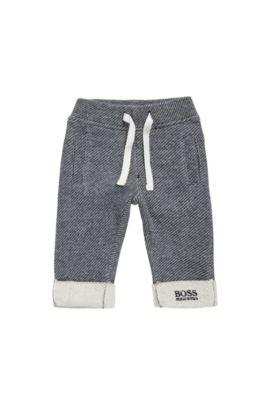 Pantalon molletonné pour bébé en coton, à motif: «J94167», Bleu foncé
