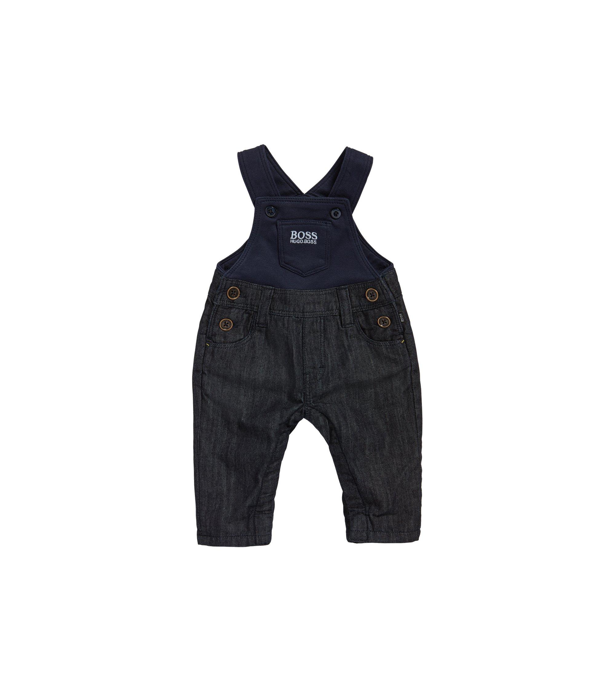 Baby-Latzhose aus Baumwolle in Denim-Optik: 'J94168', Gemustert