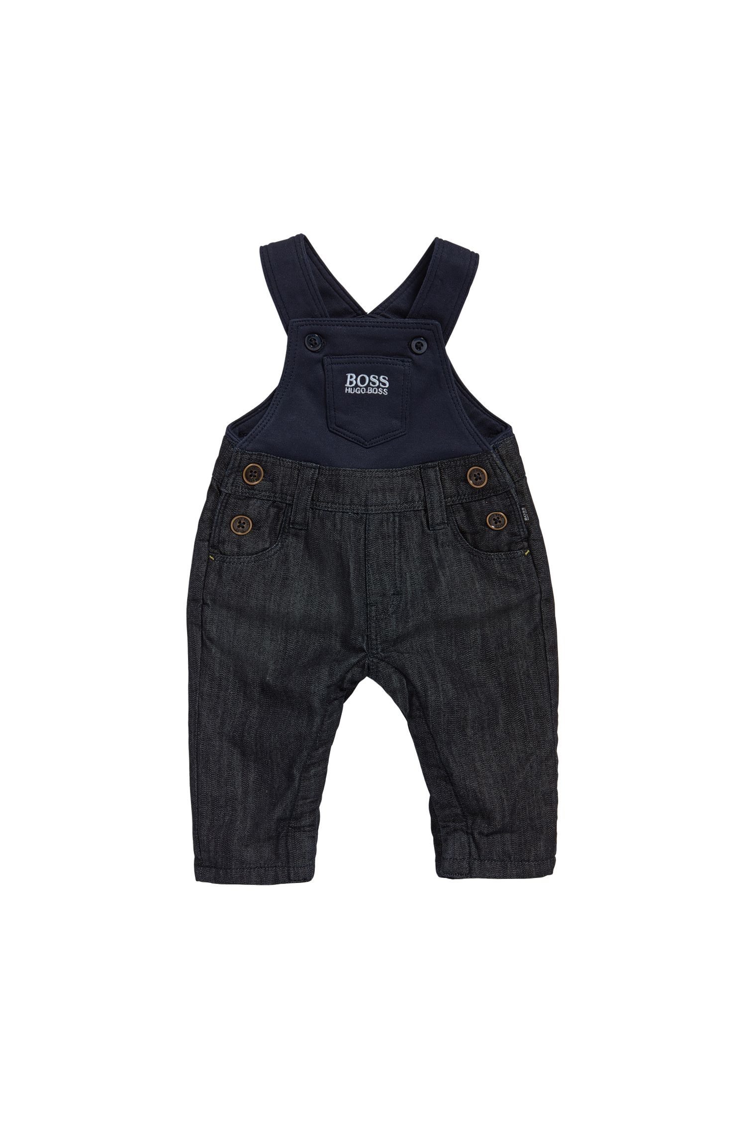 Newborns' dungarees in denim-look cotton: 'J94168'