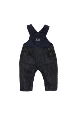 Newborns' dungarees in denim-look cotton: 'J94168', Patterned