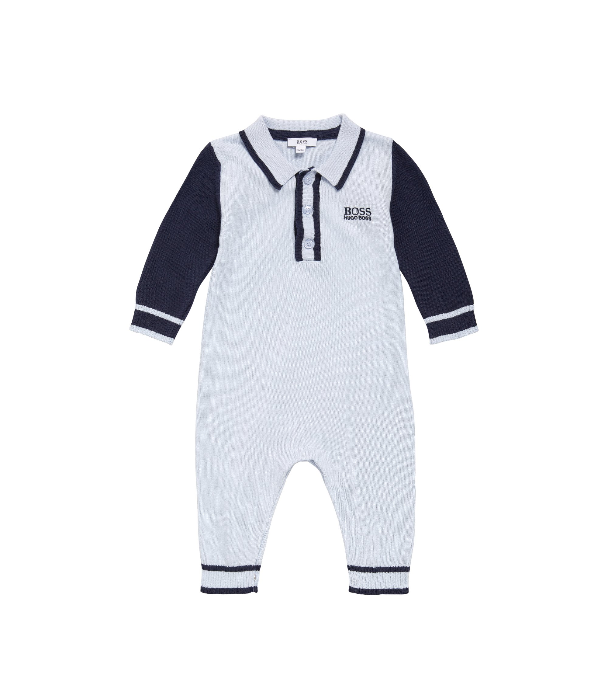 Newborn overalls made from cotton in fine-knit quality: 'J94169', Light Blue