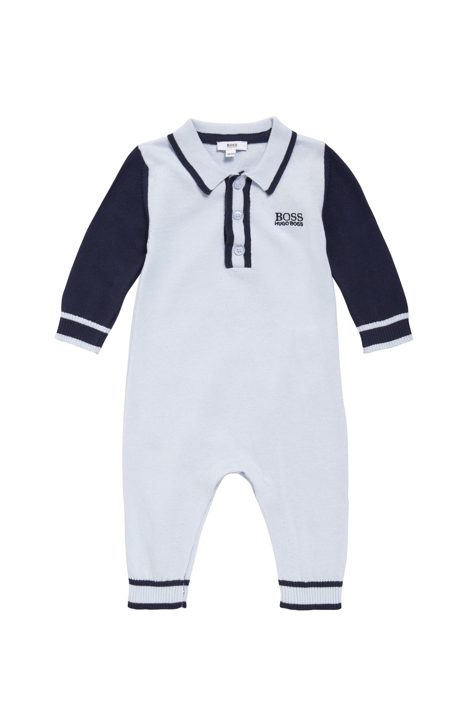 Newborn overalls made from cotton in fine-knit quality: 'J94169'