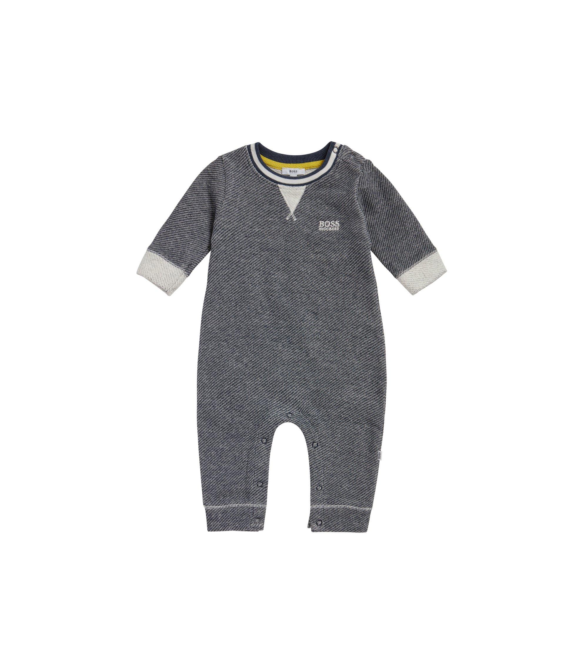 Baby-Strampler aus Baumwolle mit Webstruktur: 'J94170', Dunkelblau