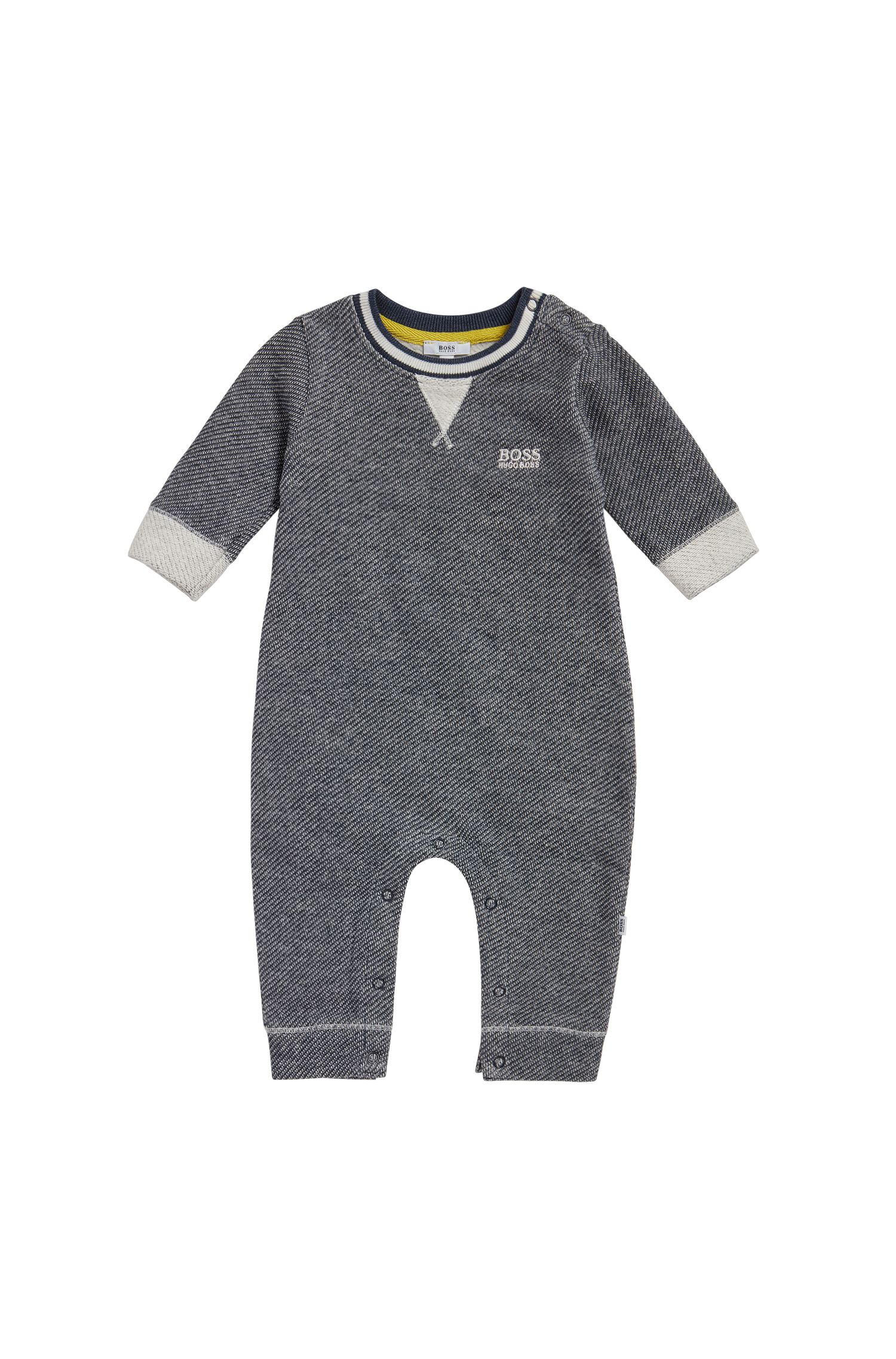 Newborns' bodysuit in cotton weave: 'J94170'