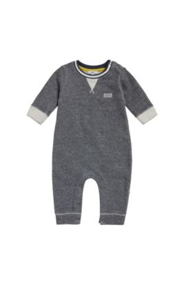 Newborns' bodysuit in cotton weave: 'J94170', Dark Blue