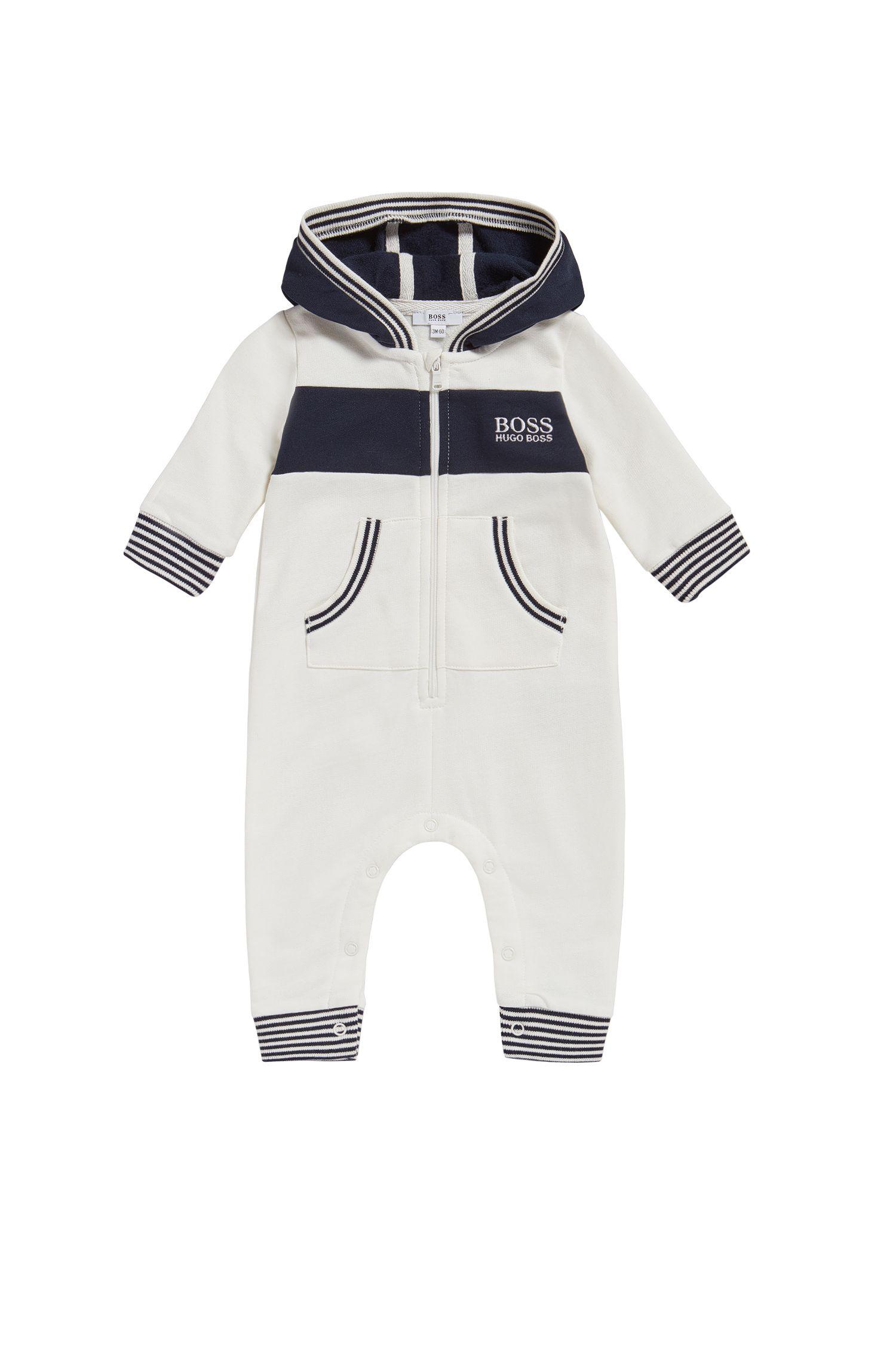 Combinaison à capuche pour bébé en coton: «J94171»