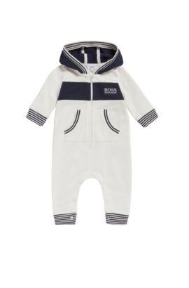 Baby-Overall aus Baumwolle mit Kapuze: 'J94171', Natur