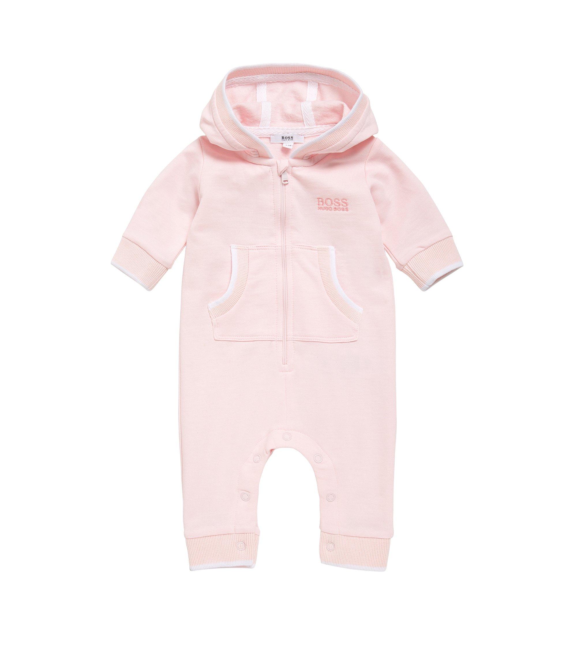 Combinaison à capuche pour bébé en coton: «J94172», Rose clair