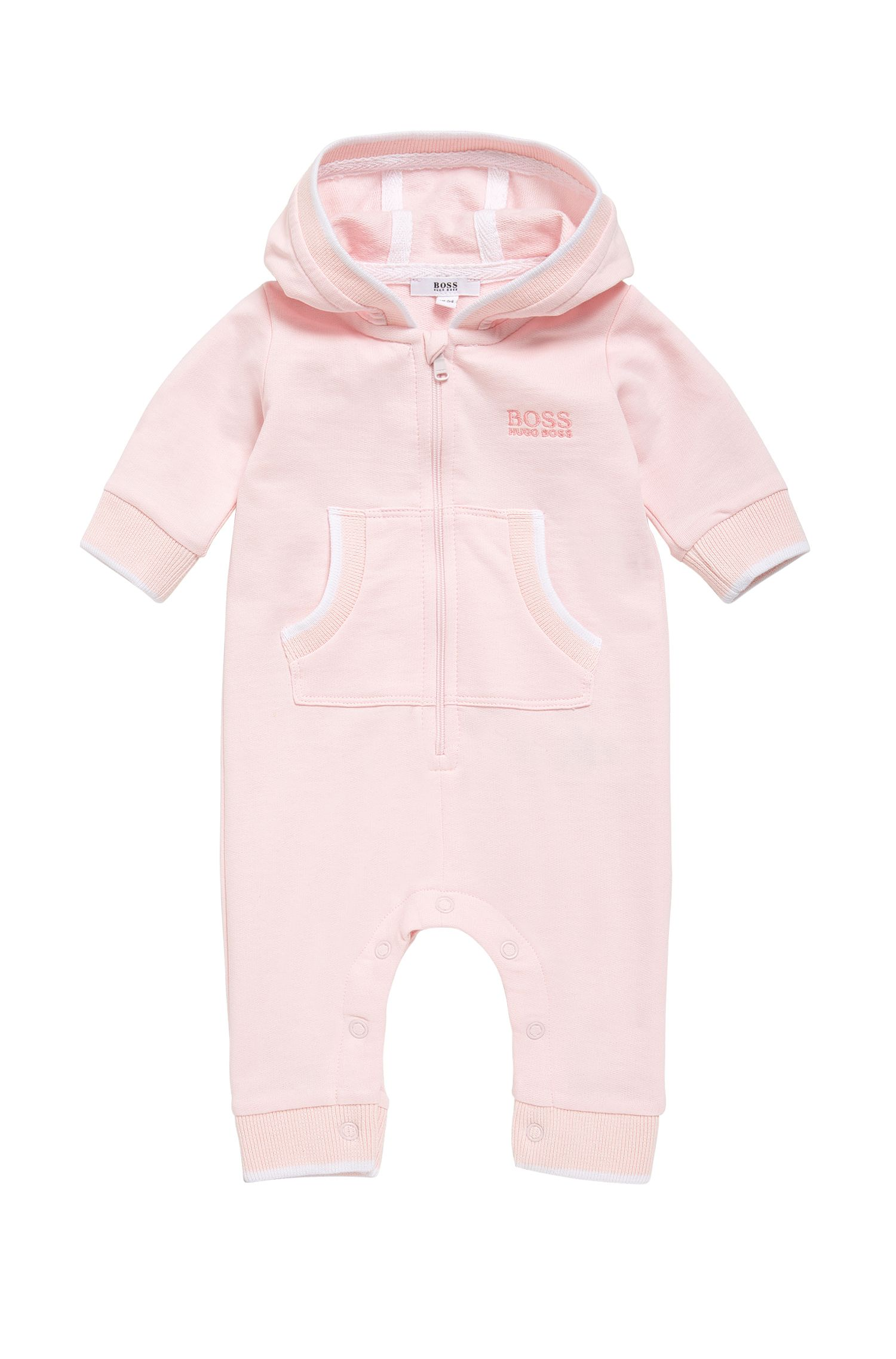 Hooded cotton overalls for newborns: 'J94172'