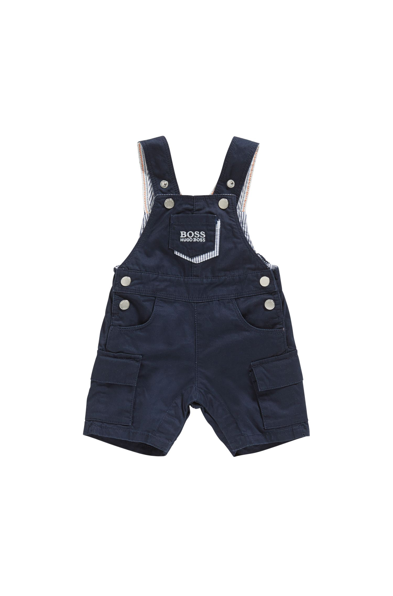Newborns' dungaree shorts in cotton with adjustable braces: 'J94177'