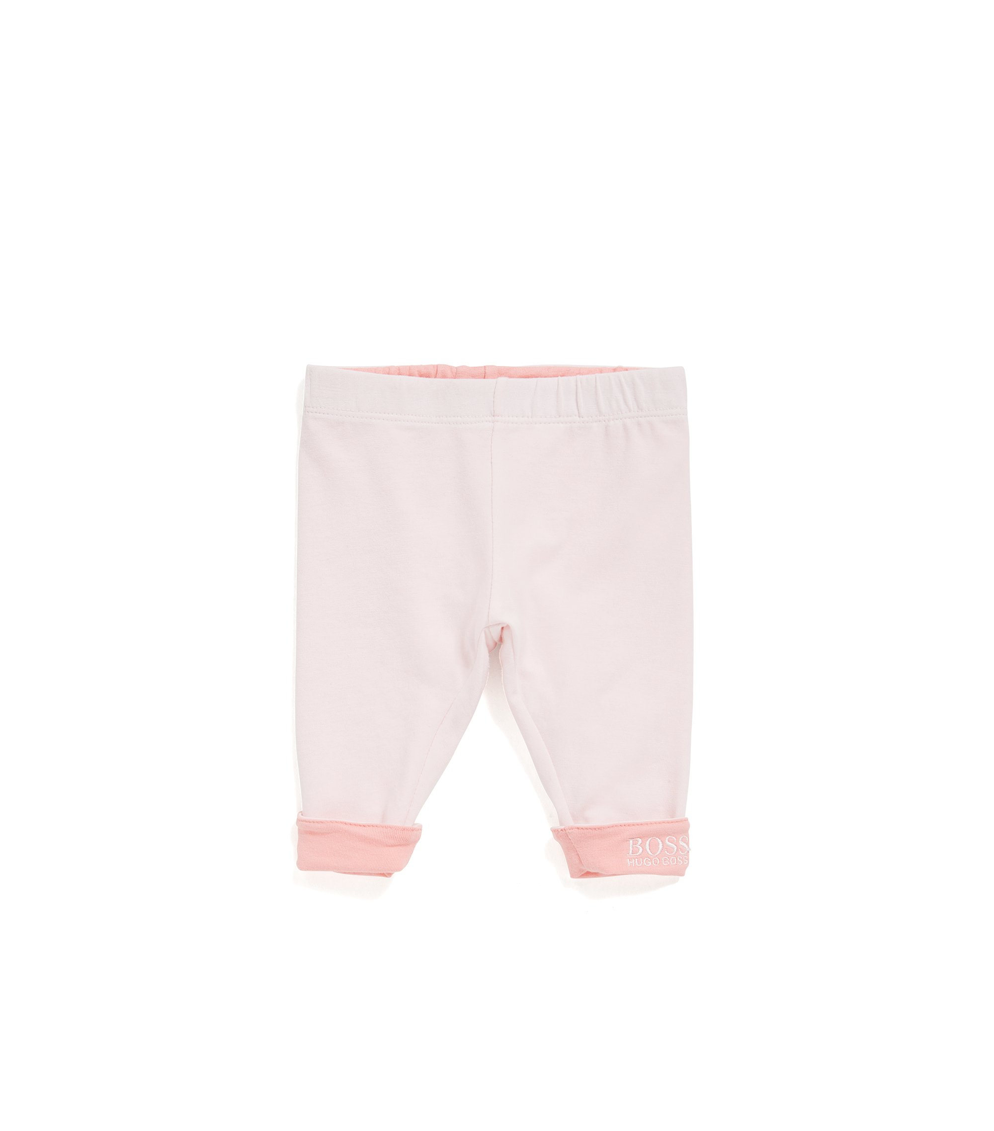 Baby reversible leggings in single jersey, light pink