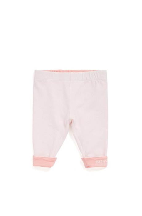 Baby reversible leggings in single jersey, light pink