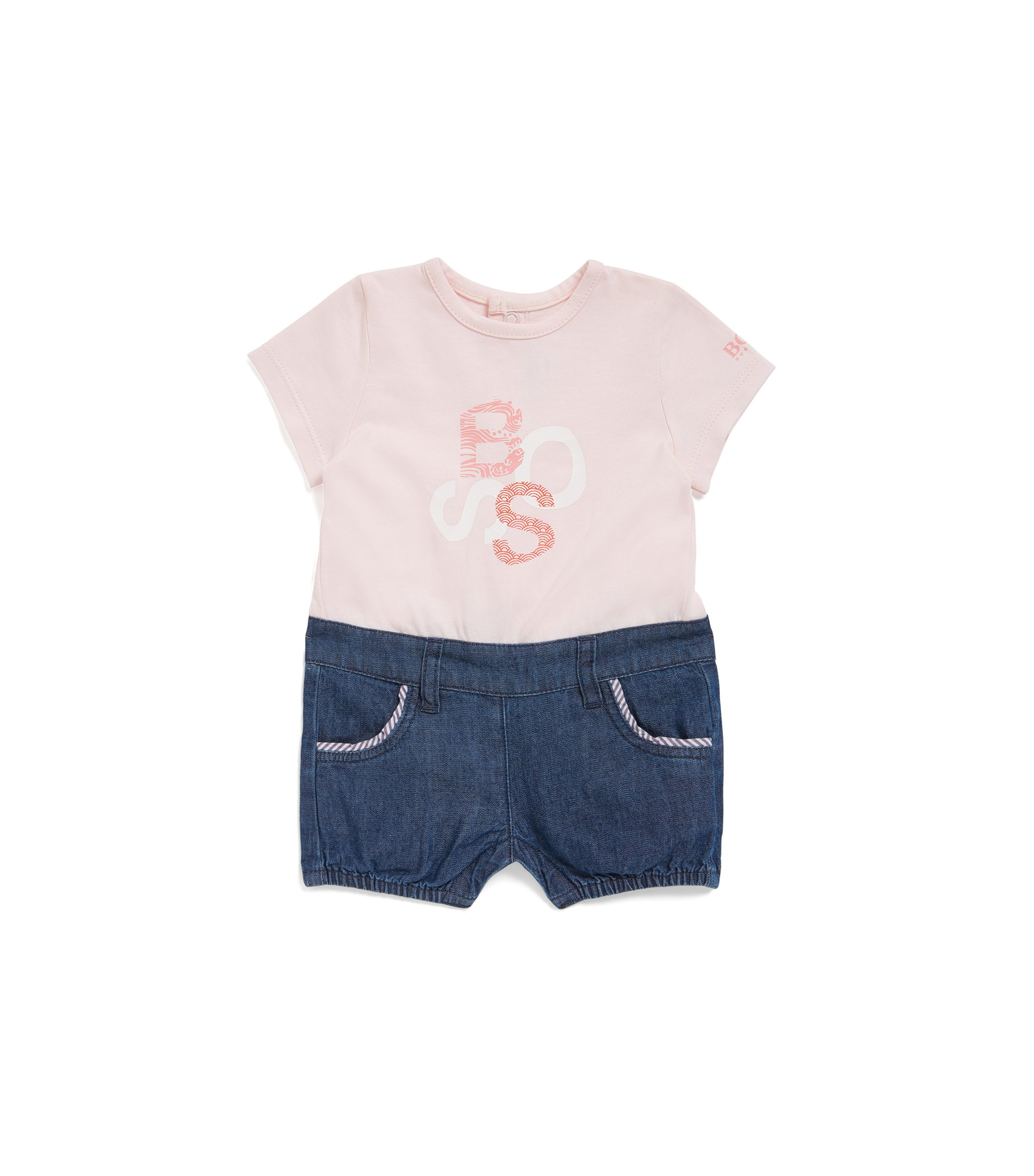 Baby-Overall im Zweiteiler-Look: 'J94185', Hellrosa