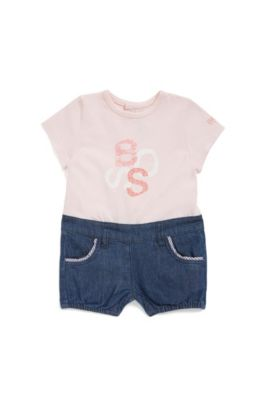 Baby overalls in a 2-piece look: 'J94185', light pink