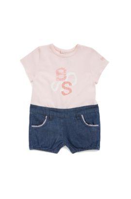 Combinaison pour bébé à effet deux pièces: «J94185», Rose clair