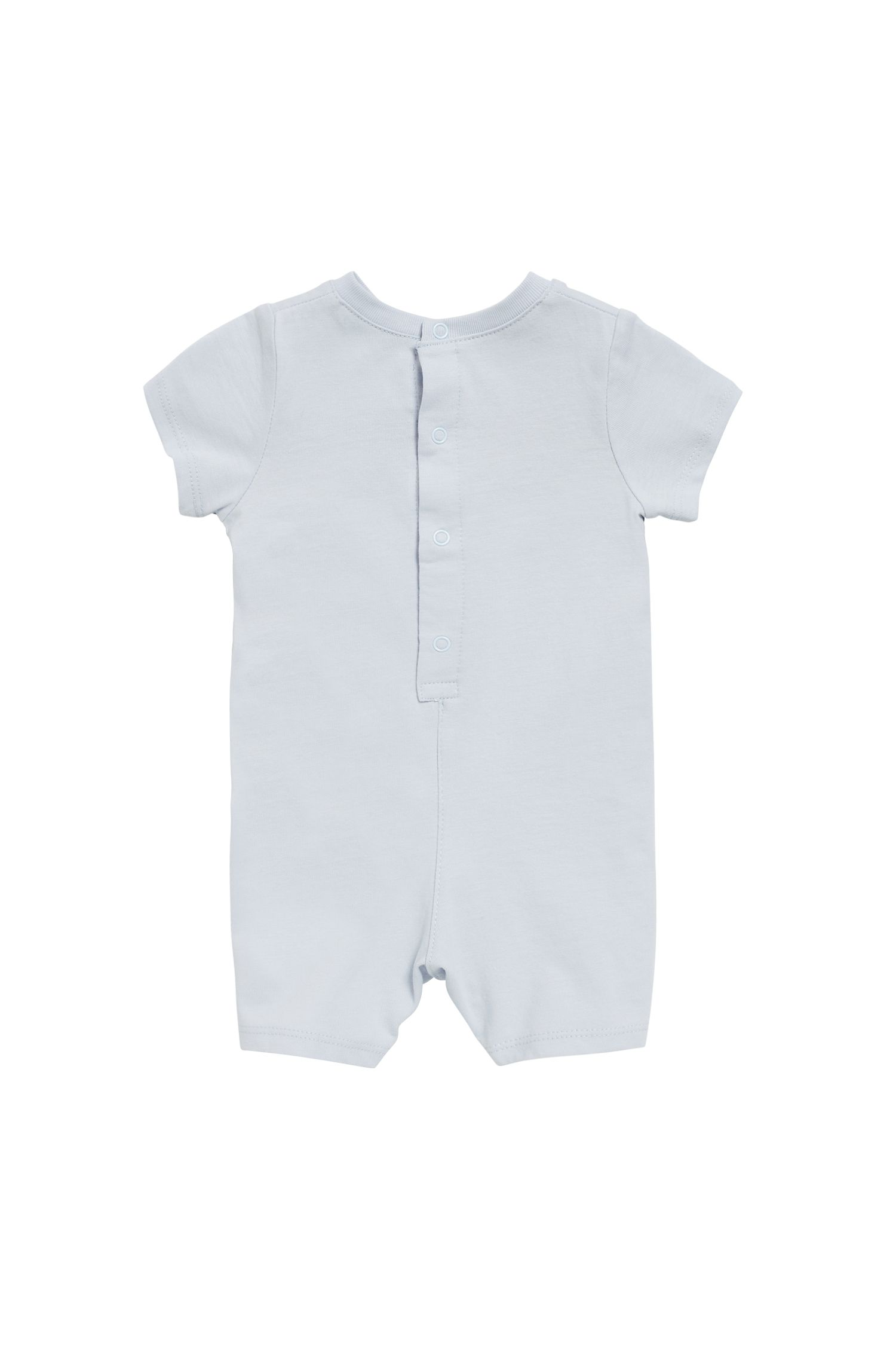 Baby playsuit in cotton jersey