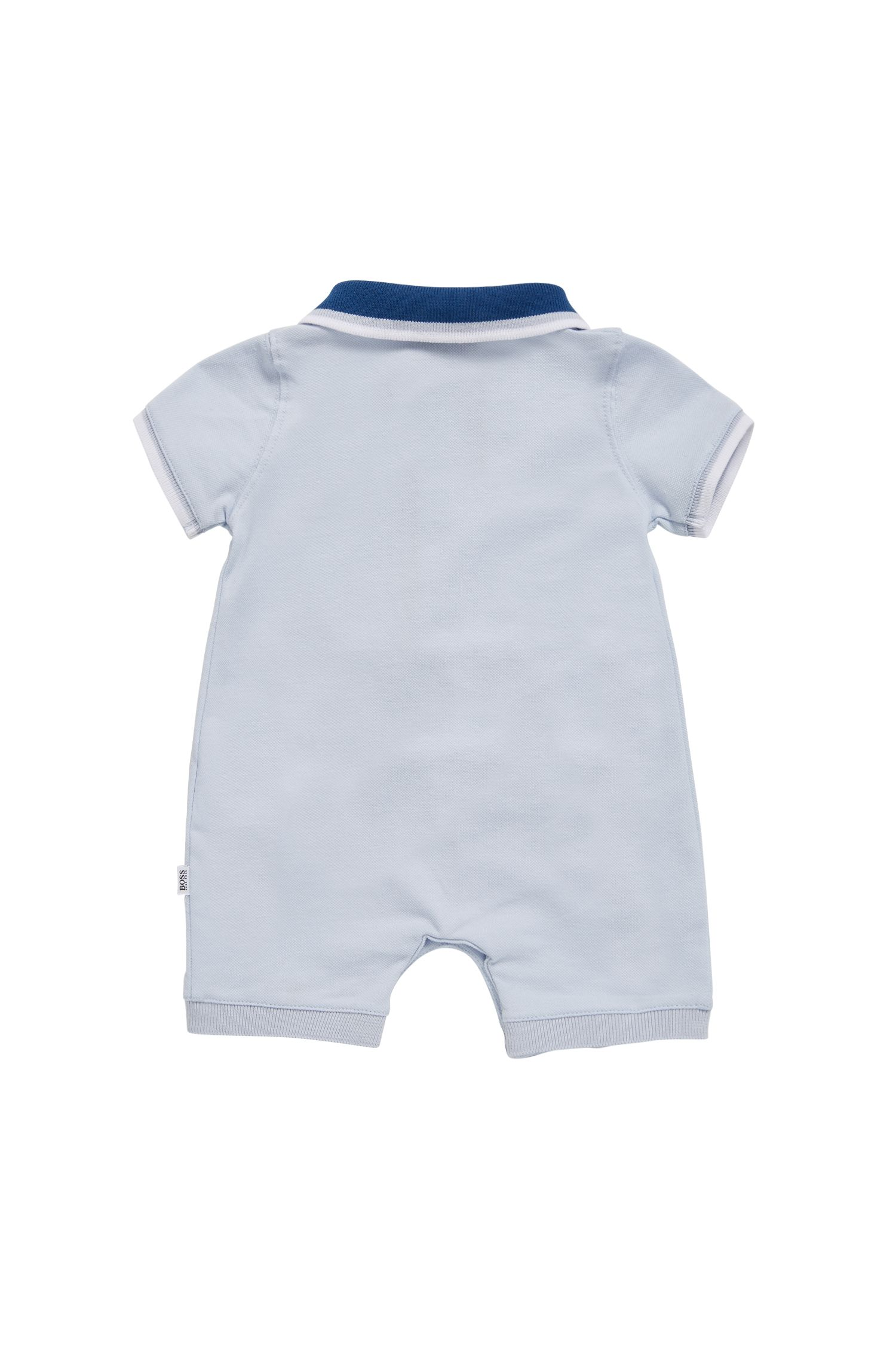 Hugo Boss - Baby-Jumpsuit aus elastischem Baumwoll-Piqué - 2