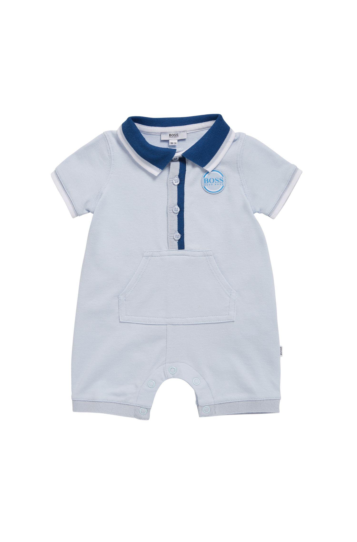 Hugo Boss - Combishort pour bébé en piqué de coton stretch - 1