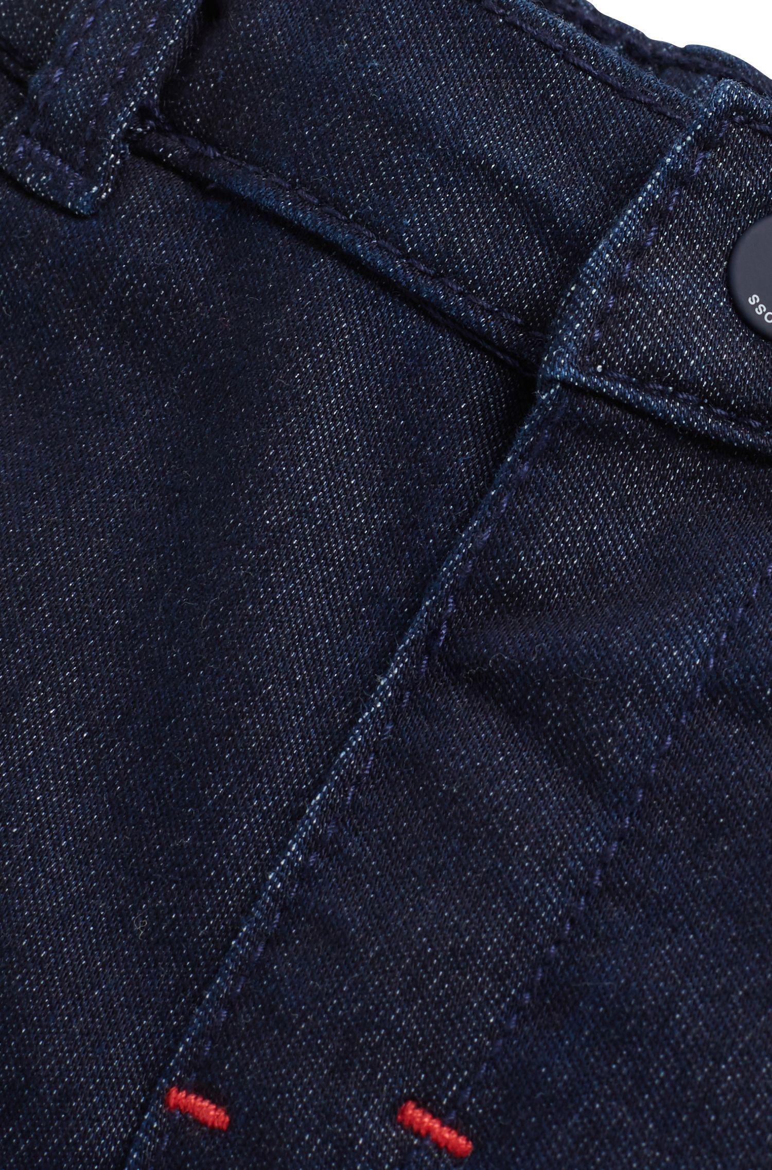 Baby boy jeans in dark-blue stretch denim, Dark Blue