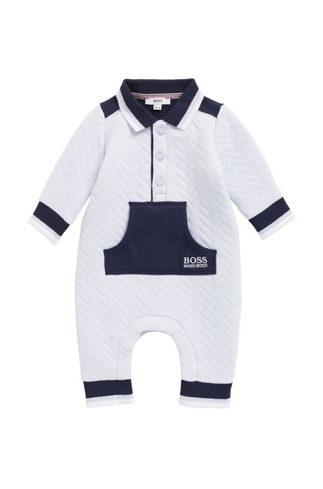 BOSS - Baby boy romper suit in cotton-blend jersey d854c8f7a