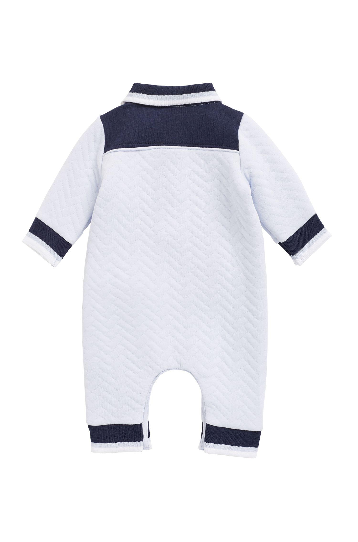 Baby-Spielanzug aus Jersey, Hellblau