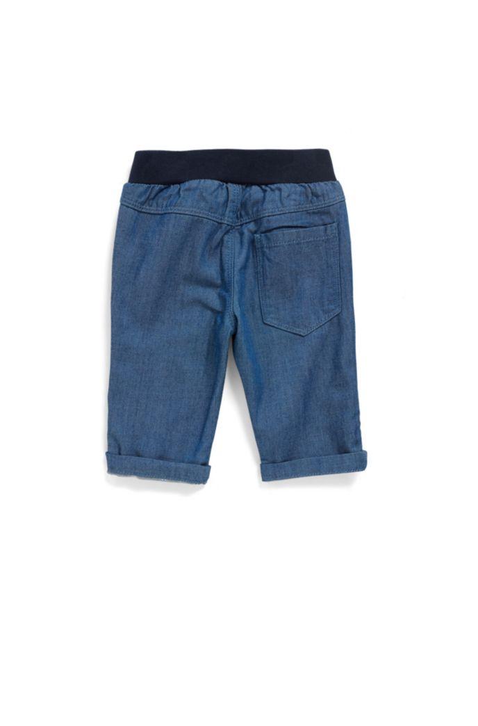 Baby-Jeans mit elastischem Logo-Bund für Jungen