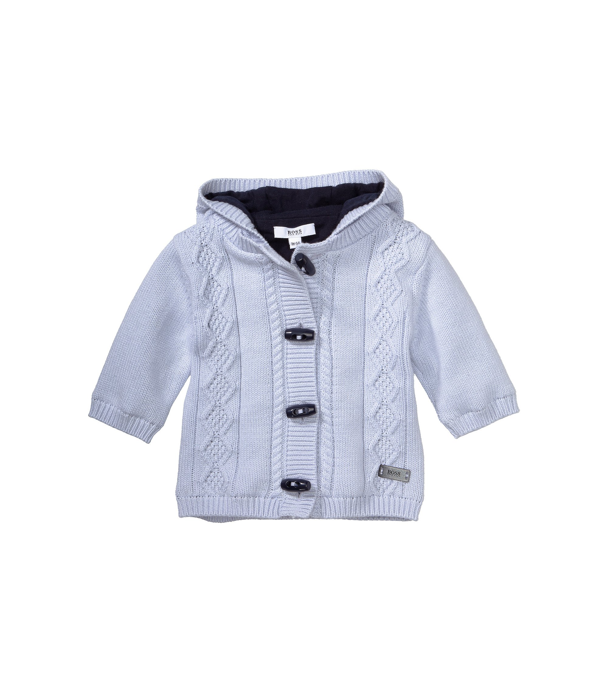 Kids-Strickjacke ´J95137` aus Baumwoll-Mix, Hellblau