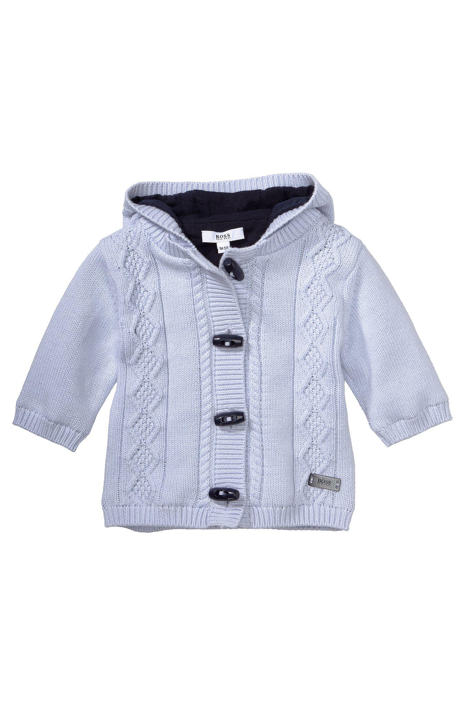 Veste en maille pour enfant «J95137» en coton mélangé
