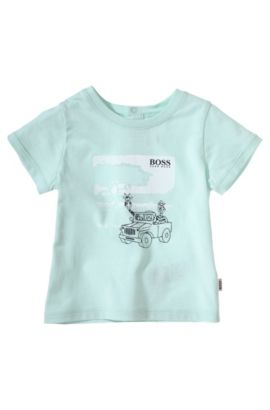 Kids-T-Shirt ´J95145` aus Baumwolle, Hellgrün