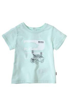 T-shirt pour enfants «J95145» en coton, Chaux