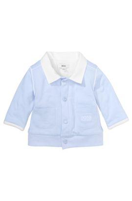 Kindersweatshirtjas 'J95148' van katoen, Lichtblauw