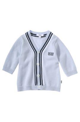 Cardigan pour enfant «J95150» en coton, Bleu vif
