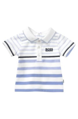 Kids-Piqué-Polo ´J95151` aus Baumwoll-Mix, Weiß