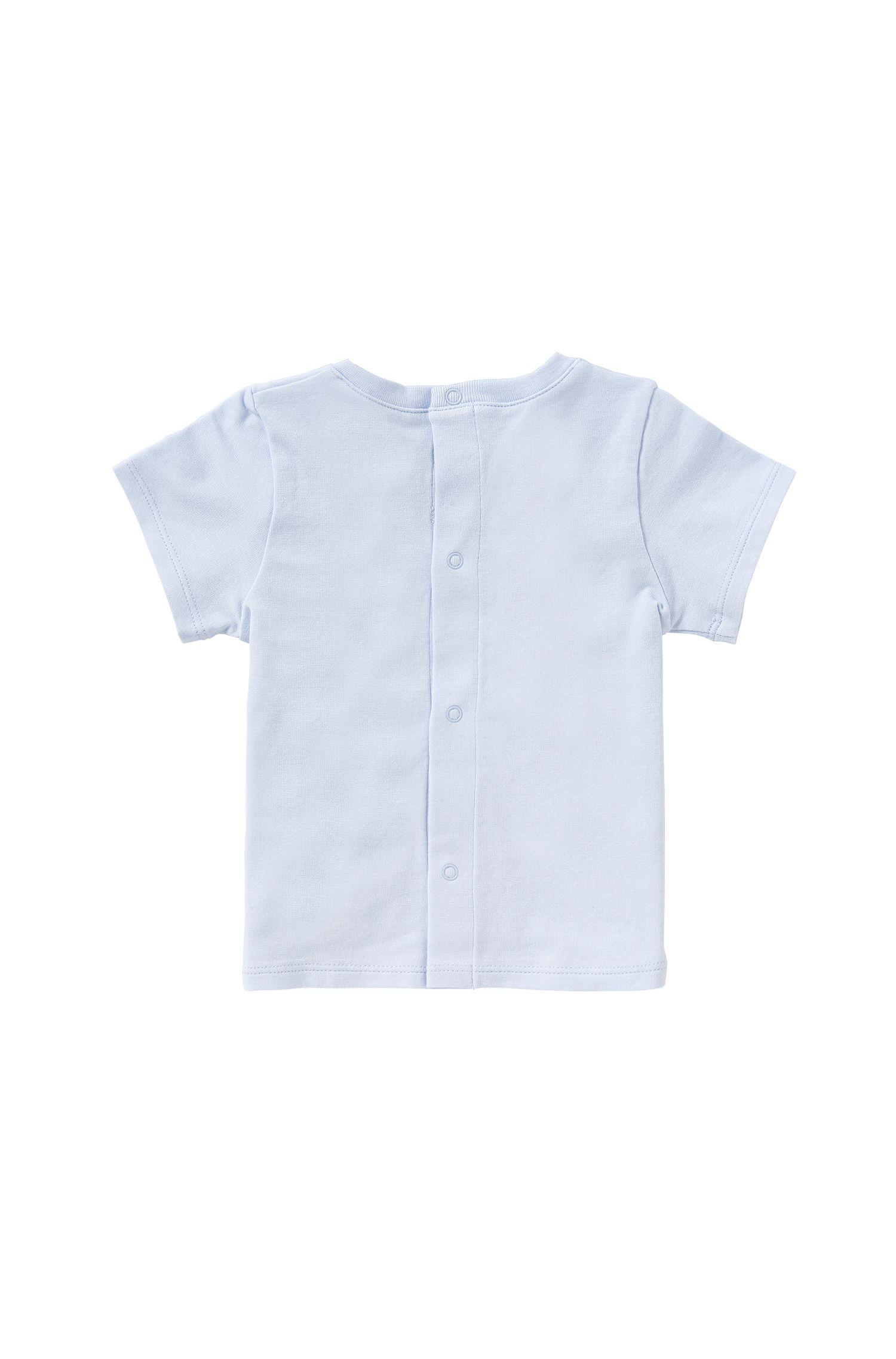Baby-T-Shirt aus Baumwolle mit rückseitiger Druckknopfleiste: 'J95190'