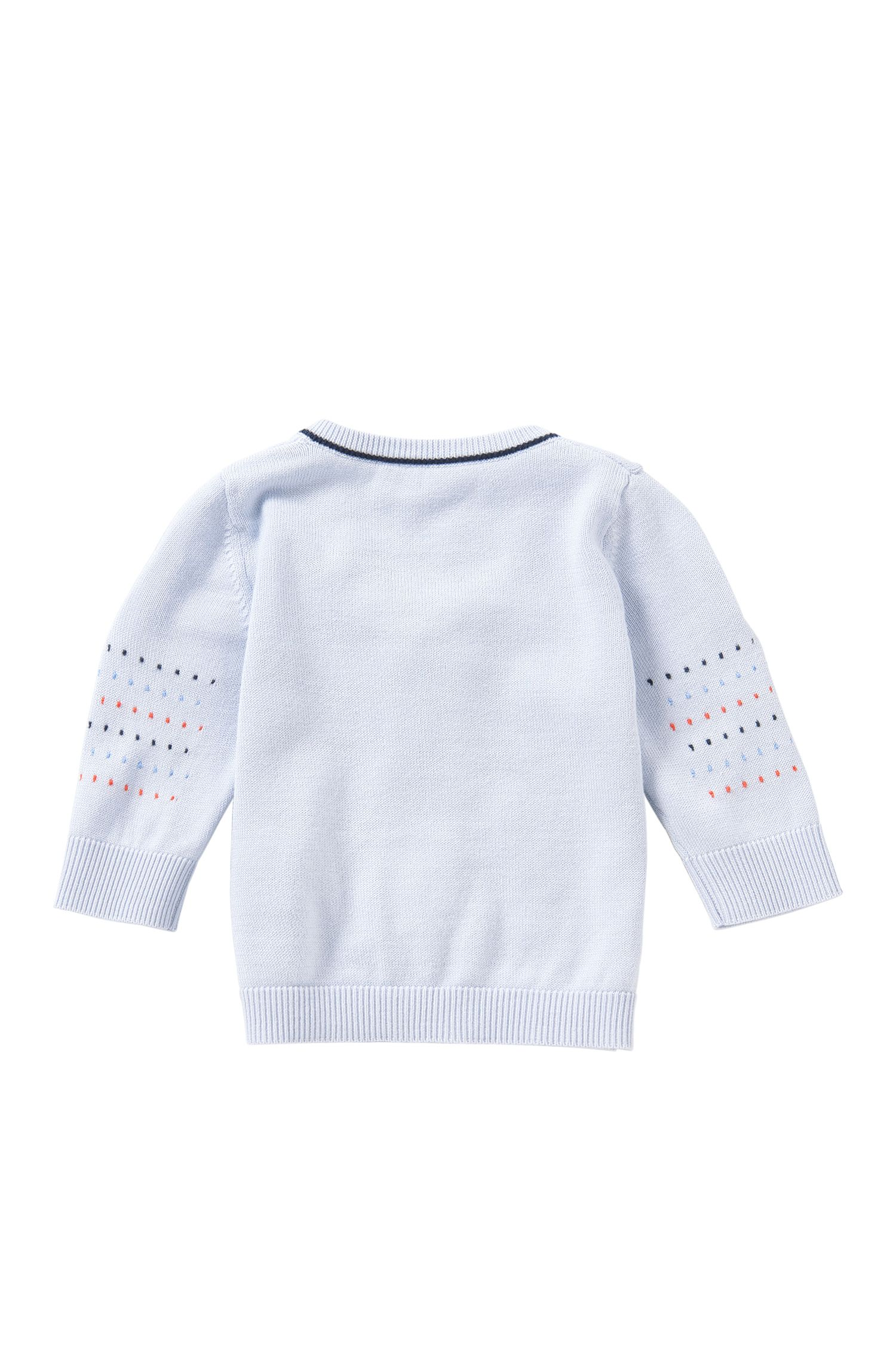 Baby-Strickjacke aus Baumwoll-Modal-Mix mit Reißverschluss: 'J95195'