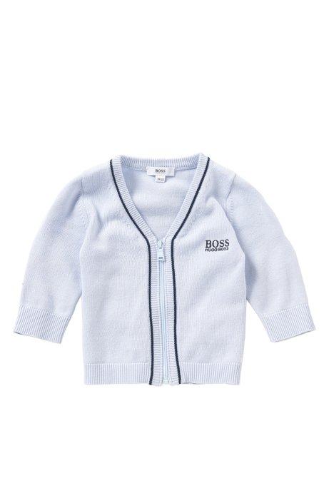 Veste en maille pour bébé avec zip, en mélange de coton et modal: «J95195», Bleu vif