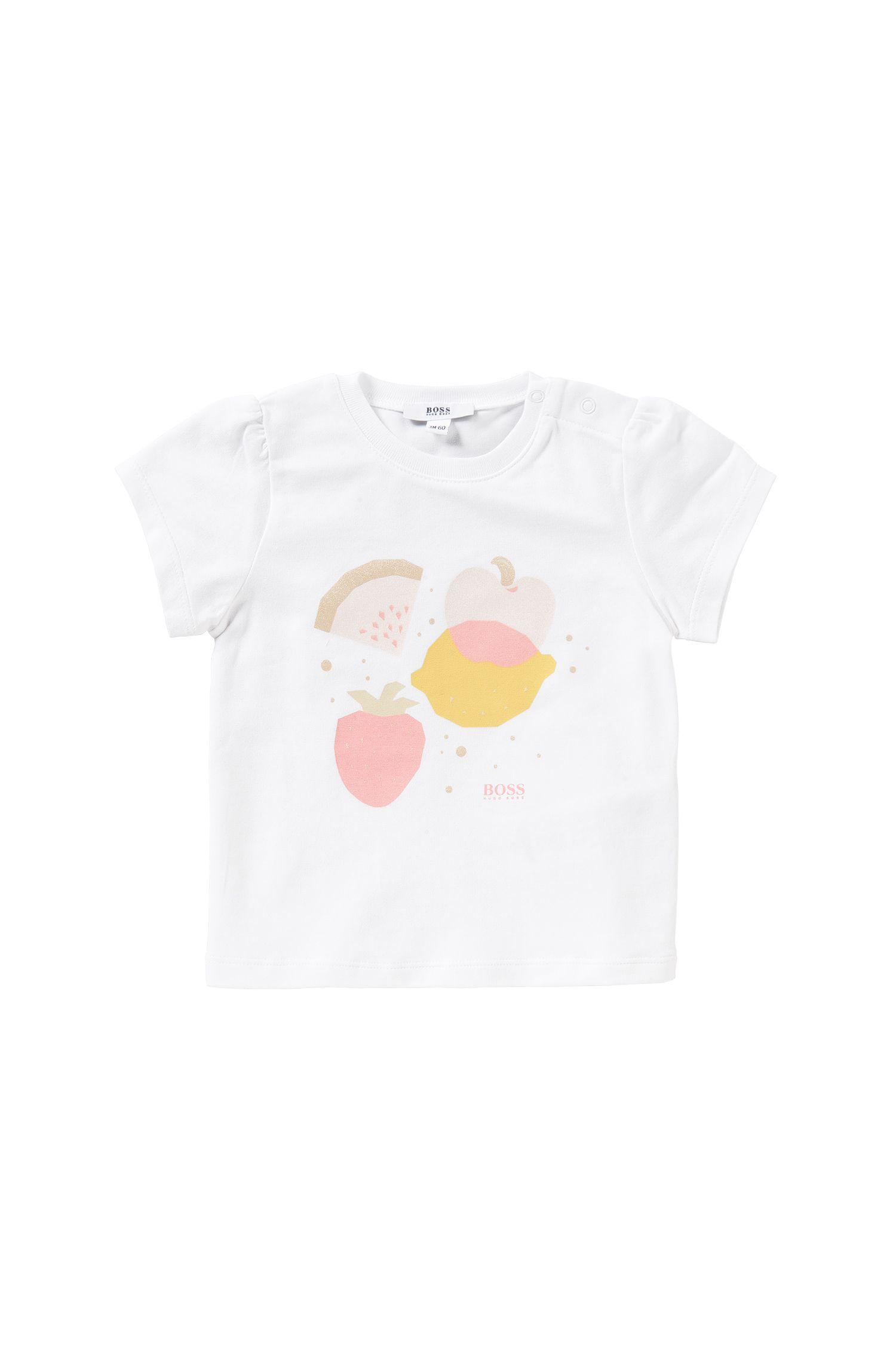 T-shirt voor baby's, van stretchkatoen met frontprint: 'J95197'