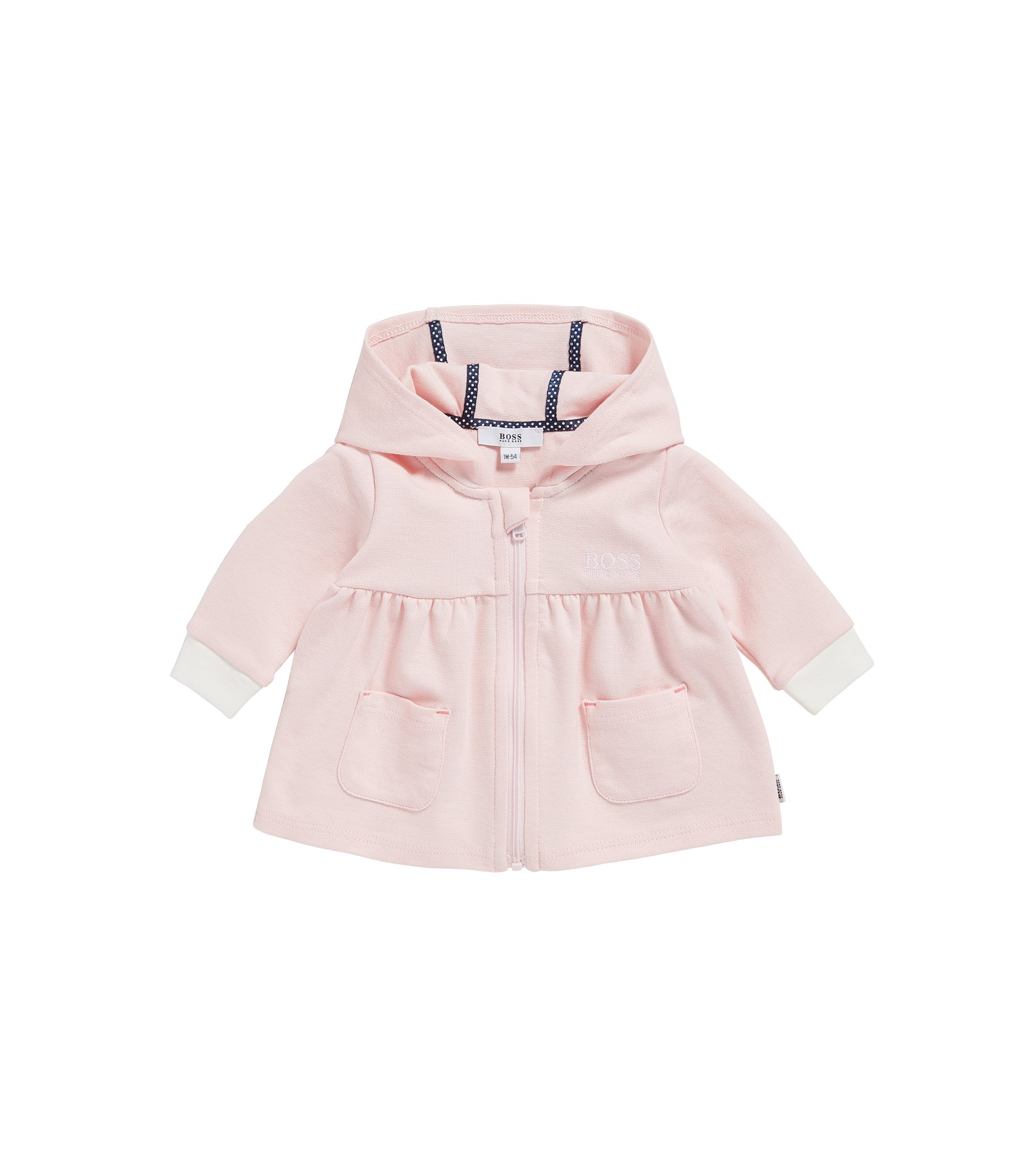 Newborn sweat jacket in stretch cotton blend with modal: 'J95205', light pink