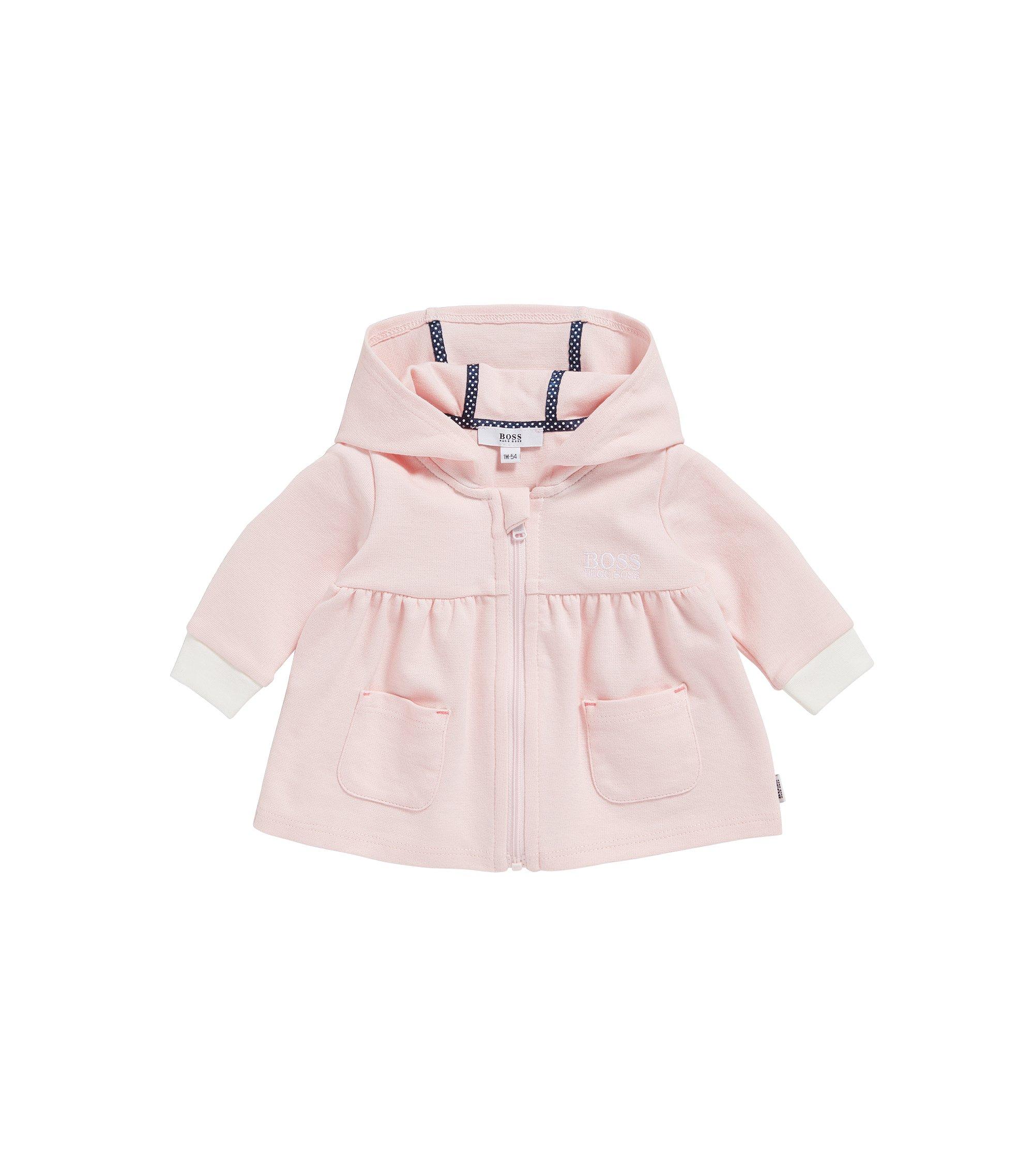Blouson sweat pour bébé en coton stretch mélangé à du modal: «J95205», Rose clair