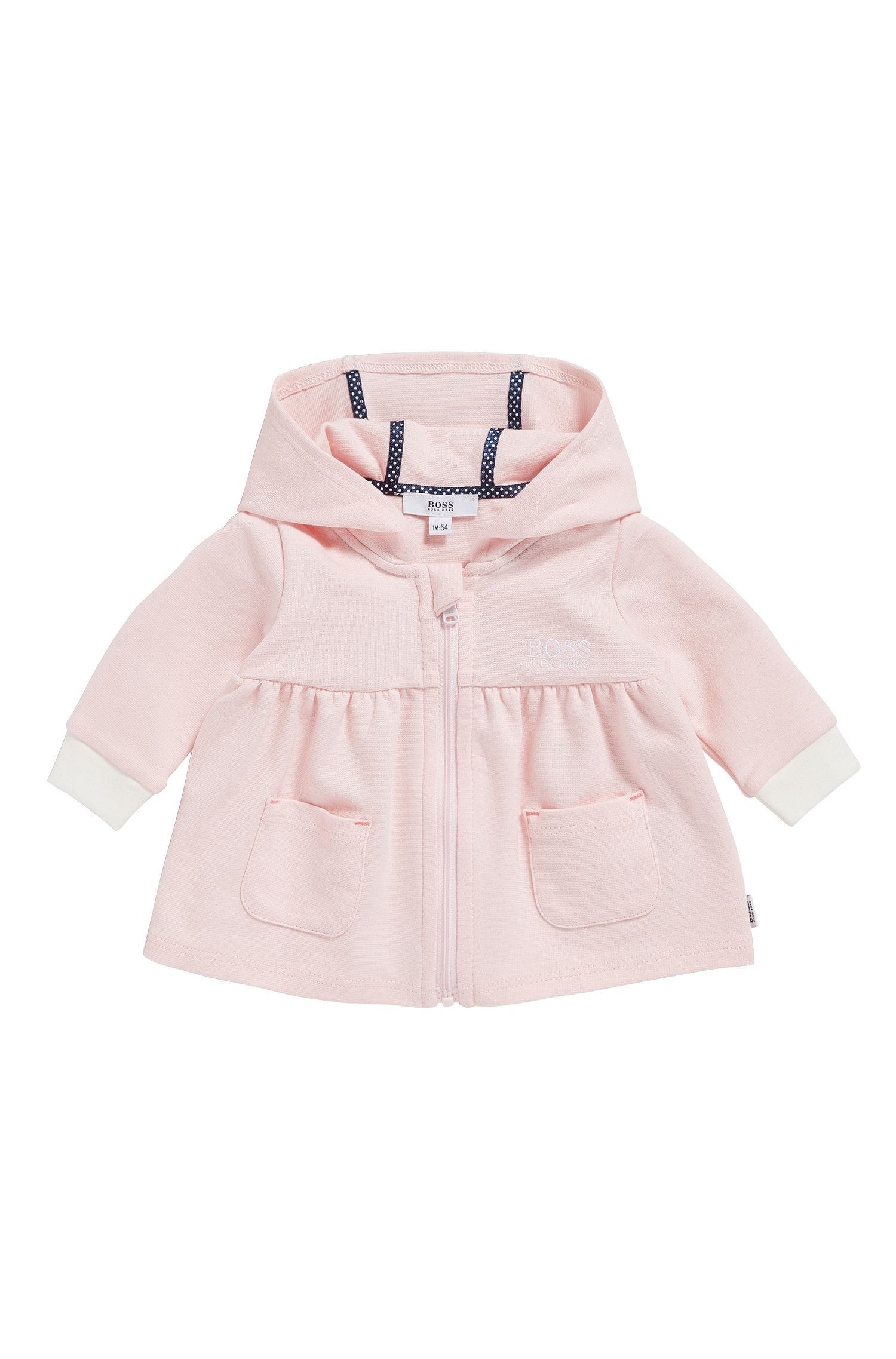 Newborn sweat jacket in stretch cotton blend with modal: 'J95205'
