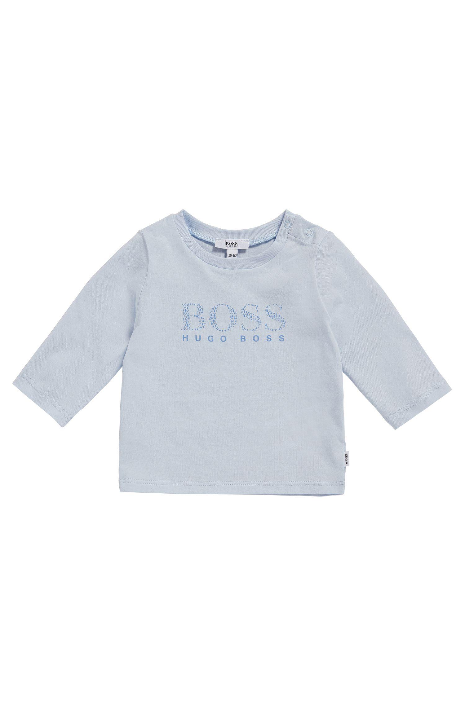 T-shirt à manches longues pour bébé en coton extensible à inscription logo: «J95207»