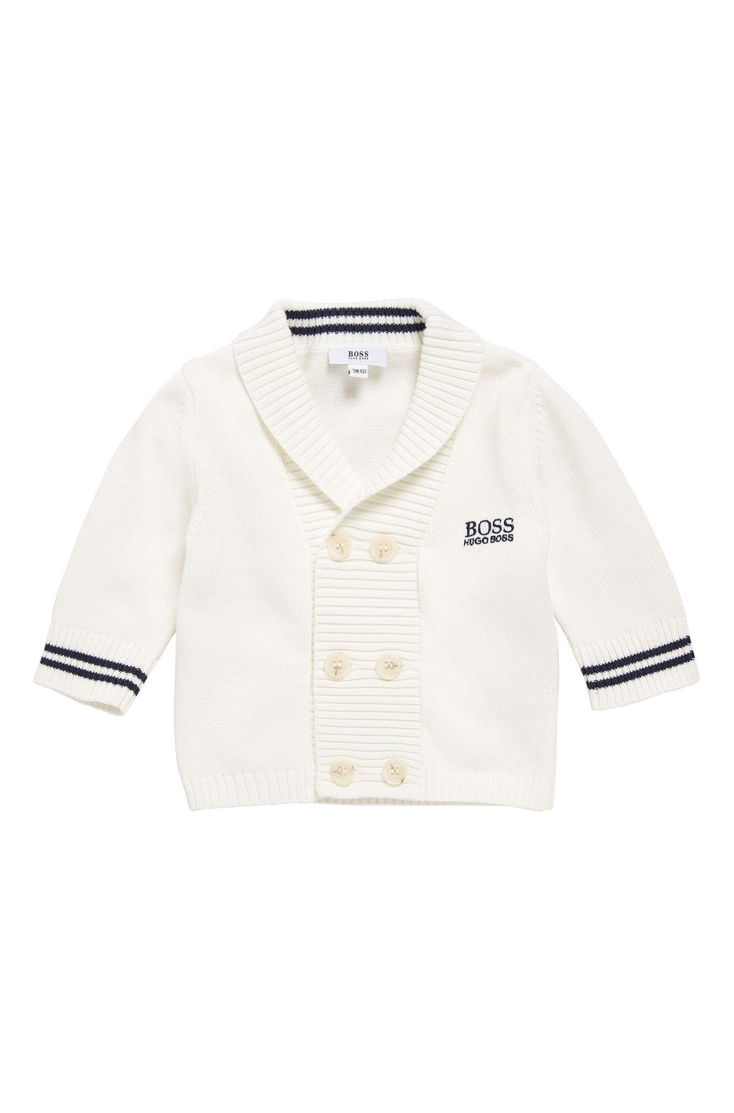 Chaqueta de punto para bebé en algodón con tapeta de botones de dos filas: 'J95213'